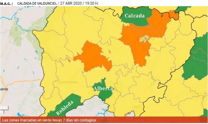 Calzada área sanitaria libre de coronavirus