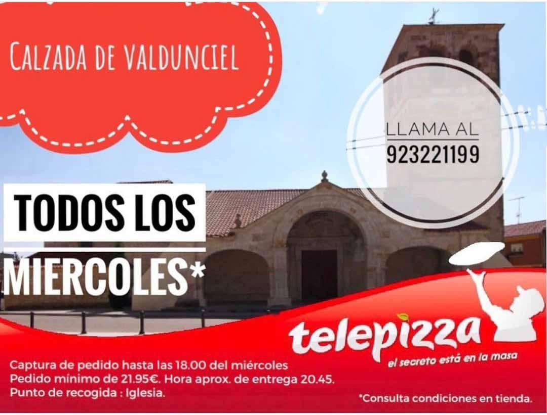 Teléfono Telepizza Calzada Valdunciel Salamanca
